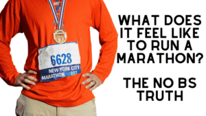 what does it feel like to run a marathon